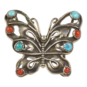 Jewelry  butterfly, coral, rings, turquoise  Butterfly Ring