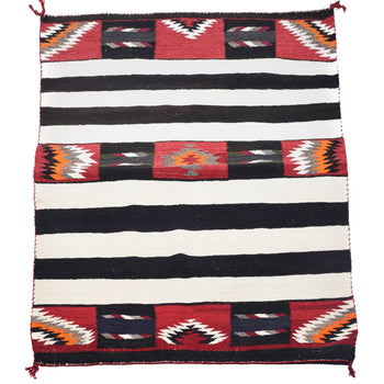 American Indian  4' to 6', blankets, southwestern, teec nos pos, weavings  Teec Nos Pos Stylized Chief Blanket