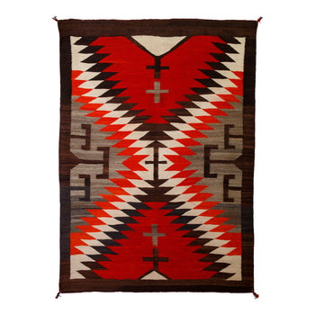 American Indian  6' to 8', crystals, navajo, weavings  JP Moore-Style Crystal Weaving