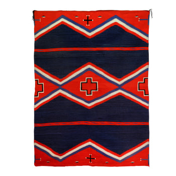 American Indian  6' to 8', germantowns, mokis, navajo, sam's pick, weavings  Germantown Moki Blanket