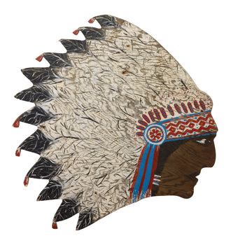 Lodge Furnishings  headdress, native, other, signs  Indian Chief Sign