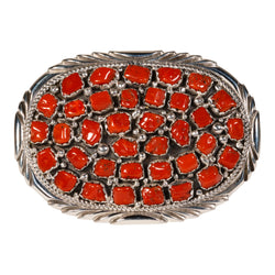 Coral Nugget Belt Buckle