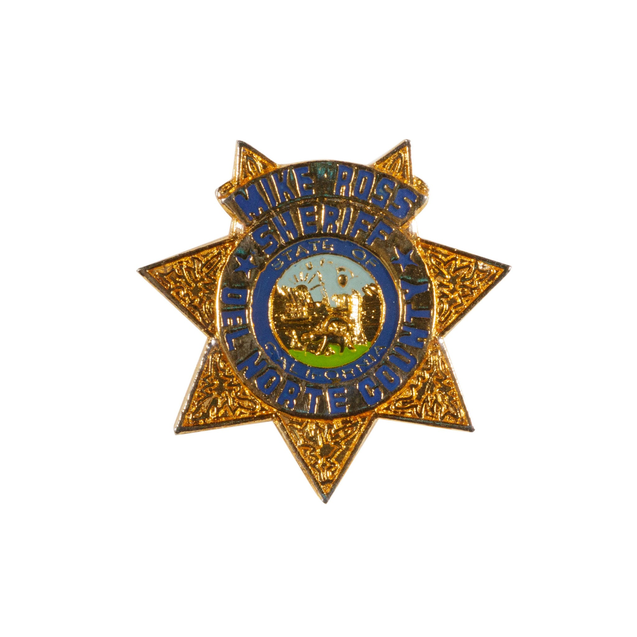 Sheriff Mike Ross Del Norte County badges, del norte county, law enforcement