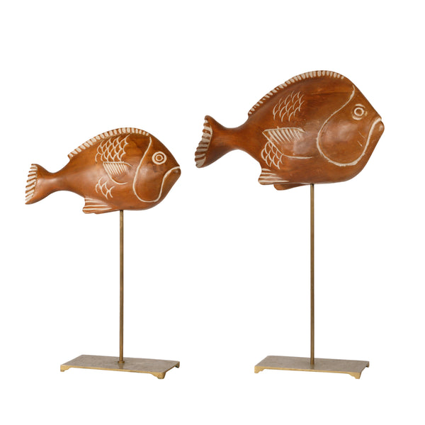 Pair of Wood Sculptures