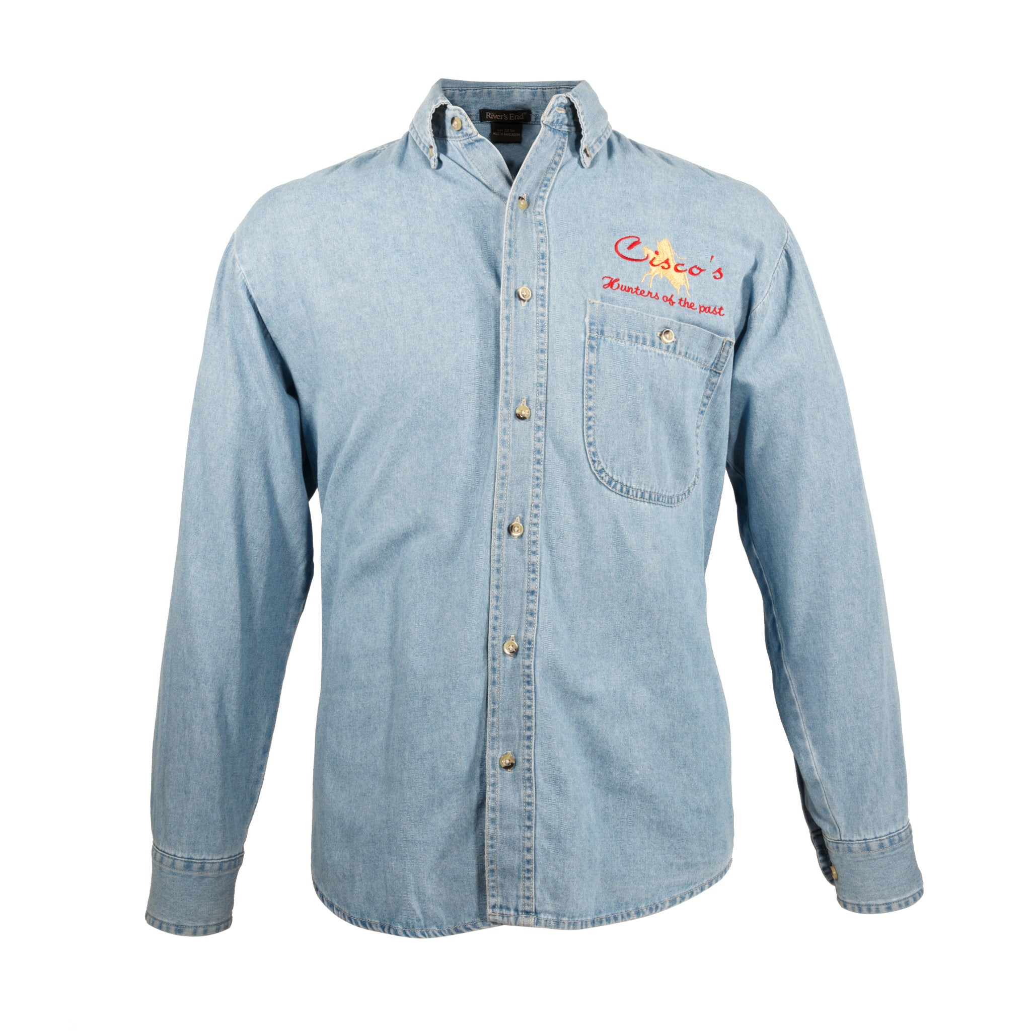 Cisco's Faded Denim Shirt cisco's shirts, cowboy and western: other: other, denim, logo wear, shirts