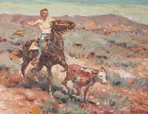 Calf Roper by Sheryl Bodily oil paintings, paintings-western, sheryl bodily