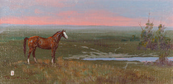 Fine Art  ace powell, horses, oil paintings, paintings-western  At Pasture by Ace Powell
