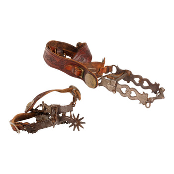 Cowboy and Western  bits, j. ginn, spurs  Matched Pair of Bit and Spurs