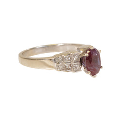 Alexandrite Ladies Platinum Ring