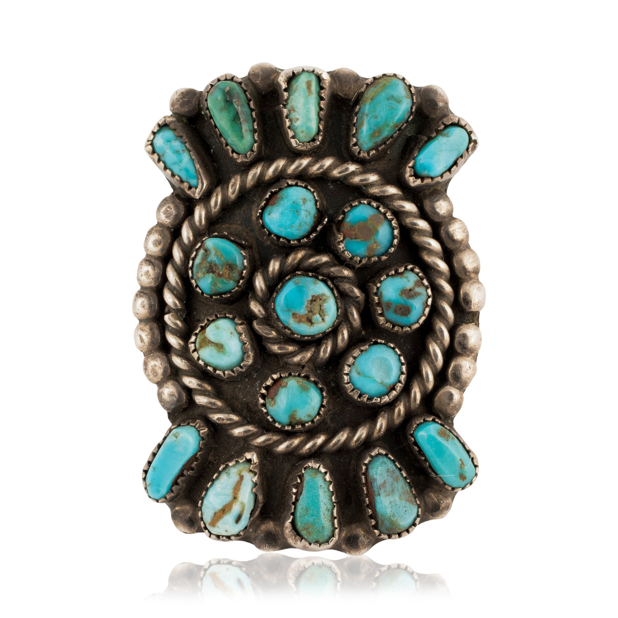 Zuni Sunburst Ring rings, turquoise, zuni