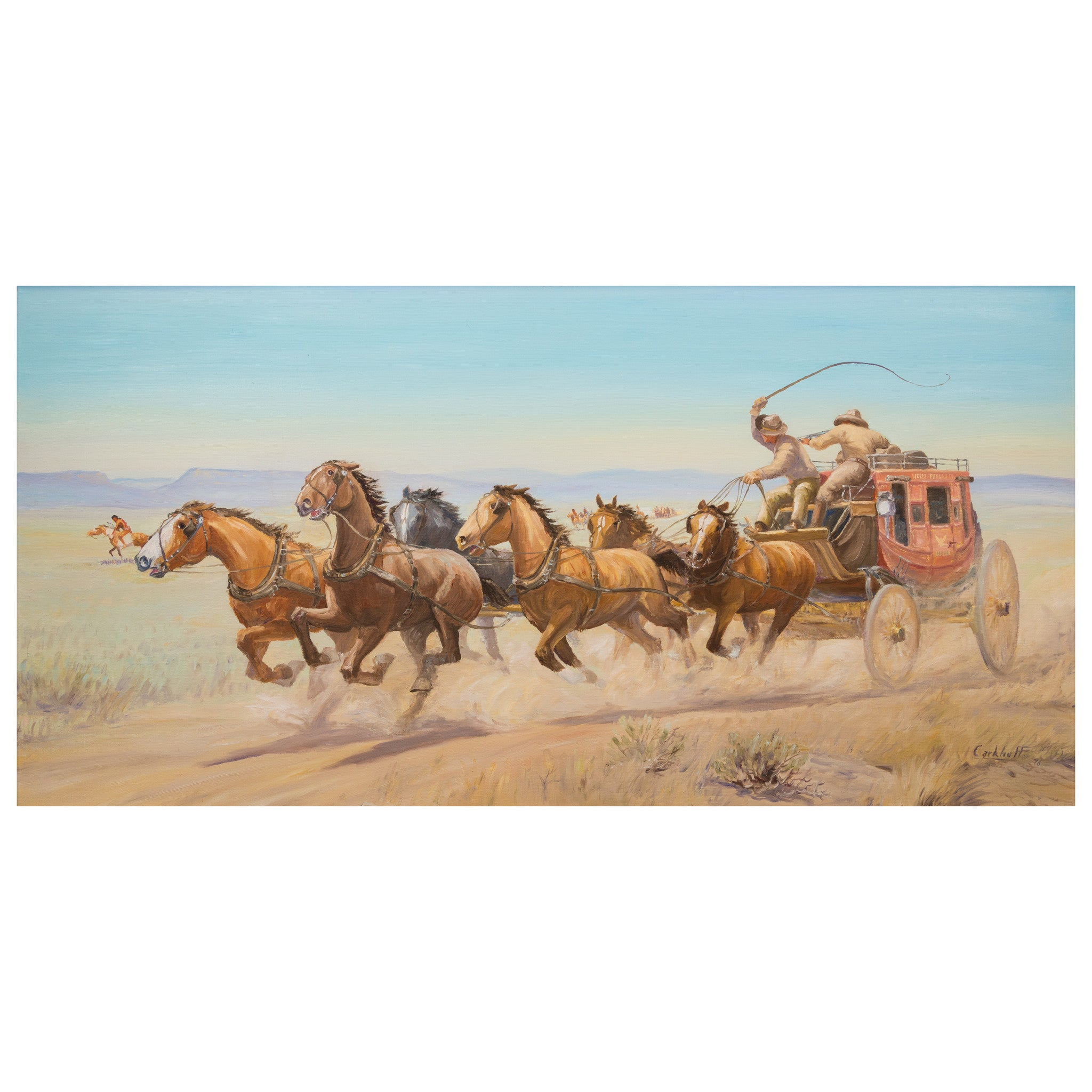 Running Encounter by Jim Carkhuff fine art: painting: western, jim carkhuff, oil paintings, paintings-western