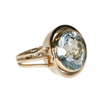 Jewelry  aqua, aquamarine, ladies, new item, rings  Brilliant Gold and Aquamarine Ring