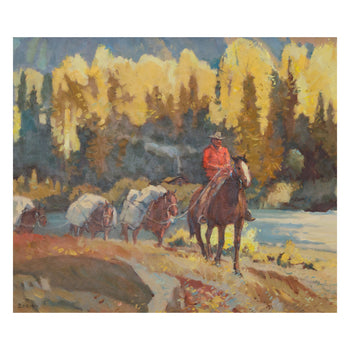 Fine Art  oil paintings, paintings-western, sheryl bodily, western  Stagecoach Crossing by Sheryl Bodily