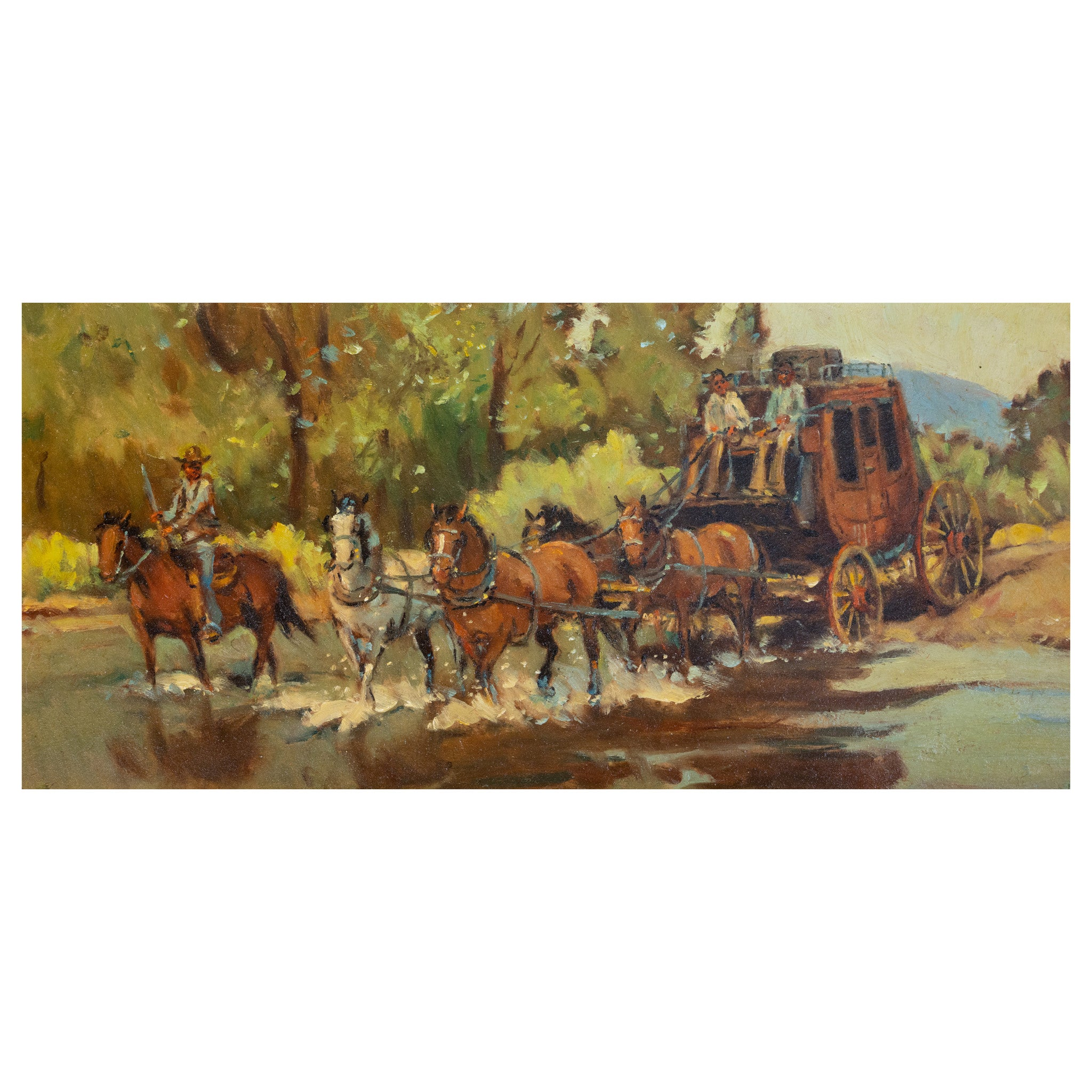 Stagecoach Crossing by Sheryl Bodily oil paintings, sheryl bodily, western-paintings