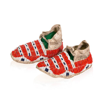 American Indian  baby, beadwork, moccasins, sioux  Sioux Baby Moccasins