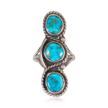 Jewelry  navajo, rings, sleeping beauty, turquoise  3 Nugget Navajo Ring