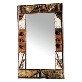 Lodge Furnishings  cisco's adirondack, mirrors  Cisco's Adirondack Beveled Mirror