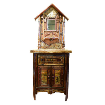 Lodge Furnishings  cabinet, cisco's adirondack, great room  Cisco's Adirondack Entryway Hall Piece