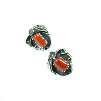 Jewelry  earrings, southwest jewelry  Navajo Coral Earrings