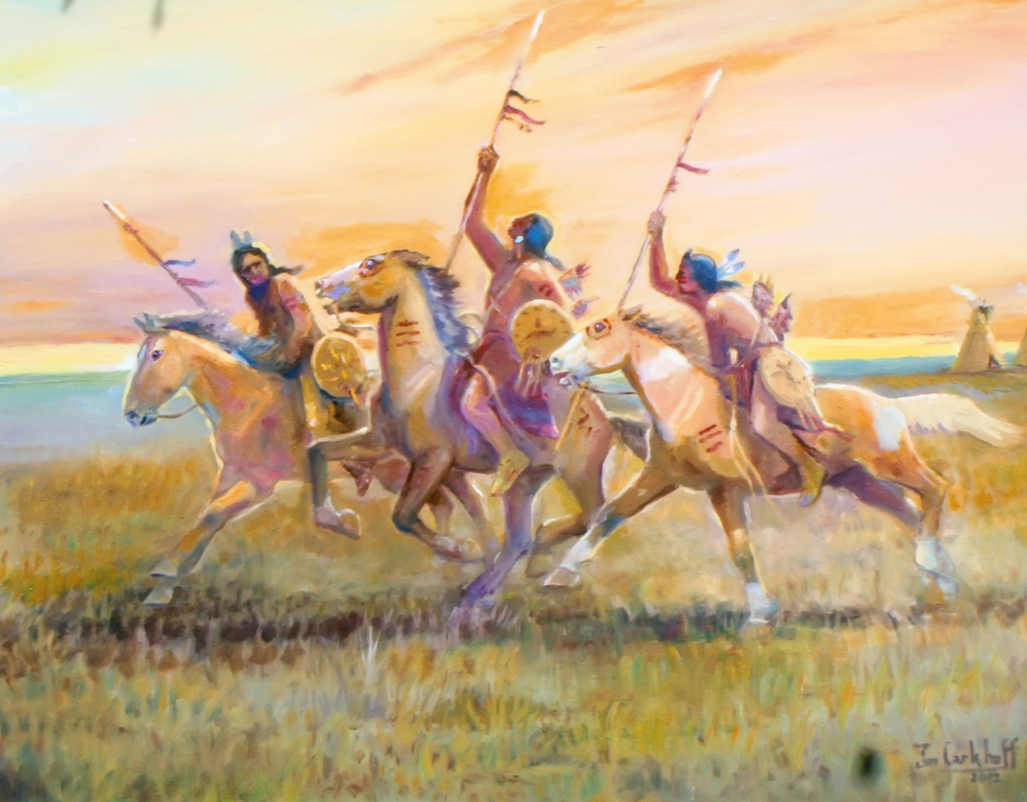 The Denizens of the Plains by Jim Carkhuff fine art: painting: native american, jim carkhuff, oil paintings, paintings-native