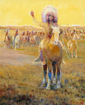 Fine Art  carkhuff, fine art: painting: native american, oil, paintings, paintings-native