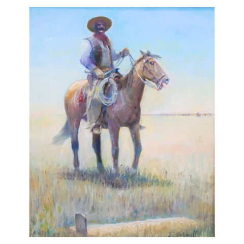 """Adios Amigo"" by Jim Carkhuff carkhuff, oil, paintings, paintings-western"