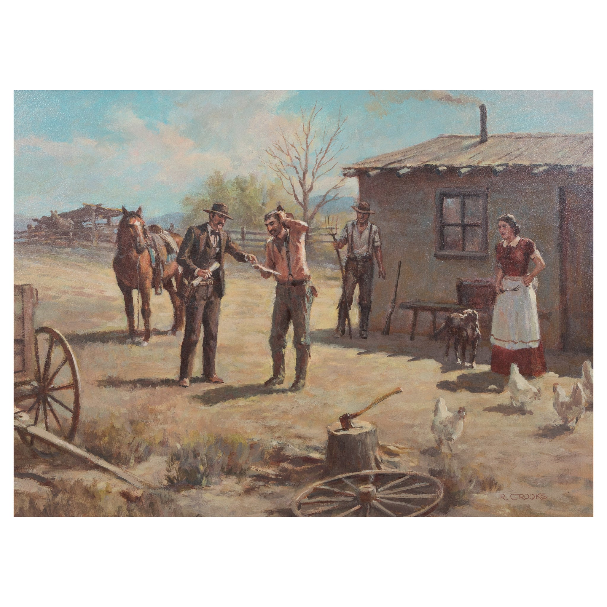 Tax Collector by Ron Crooks fine art: painting: western, oil paintings, paintings-western, ron crooks