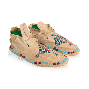 American Indian  arapaho, beadwork, mens, moccasins, new item  Arapaho Moccasins