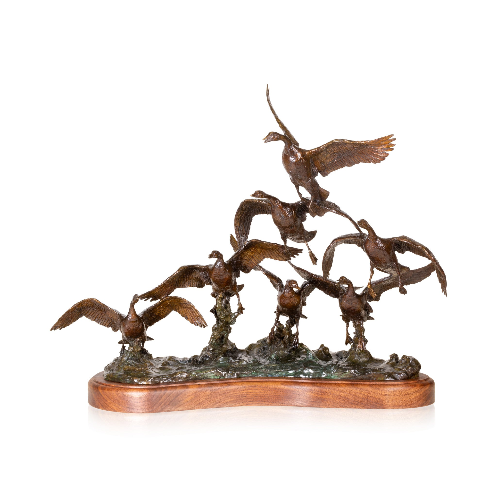 """Sky Climbers"" Bronze by Robert Scriver caa, canadian geese, cowboy artists of america, limited bronzes, robert scriver, sam's pick, sky climbers"