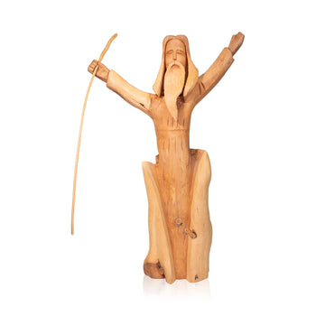 Lodge Furnishings  carvings, folk art, jesus, leo g. salazar, religious, sale item, taos