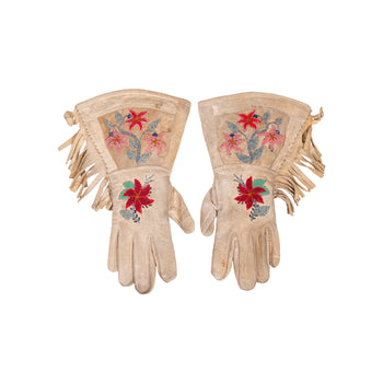 American Indian  beadwork, colville, gauntlets, new item  Colville Gauntlets