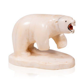 American Indian  american indian: carving: other, carvings, inuit, miniatures, polar bears  Inuit Carved Miniature Polar Bear
