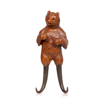 Special Collections  bears, black forest, brienz collection, carvings, chamois, leash holders, new item  Black Forest Carved Bear Leash Holder