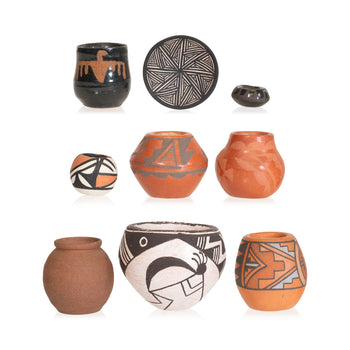 American Indian  acoma, domingo, jemez, miniatures, pottery, pueblo  Collection of Miniature Southwest Pottery