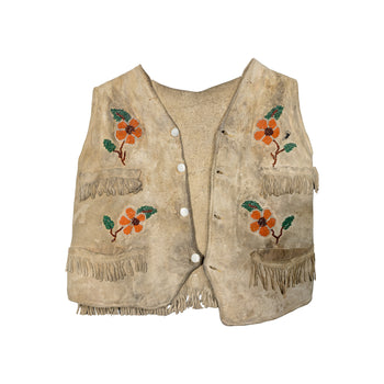 American Indian  beadwork, childrens, new item, plateau, vests  Plateau Boys Vest