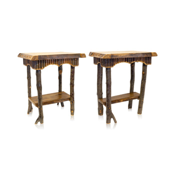 Lodge Furnishings  lamp tables, new item, tables  Pair of Lamp Tables