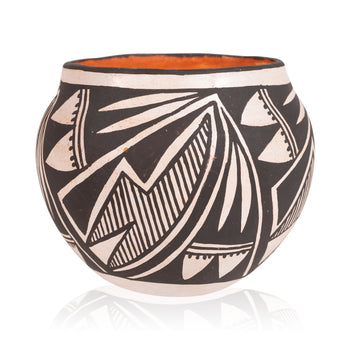 American Indian  acoma, jars, miniatures  Miniature Acoma Jar