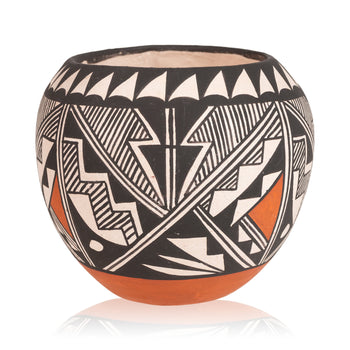 American Indian  acoma, bowls, miniatures, pottery  Miniature Acoma Bowl