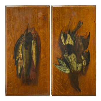 Fine Art  dead game, fine art: painting: wildlife, paintings, paintings-wildlife  Pair Dead Game Paintings