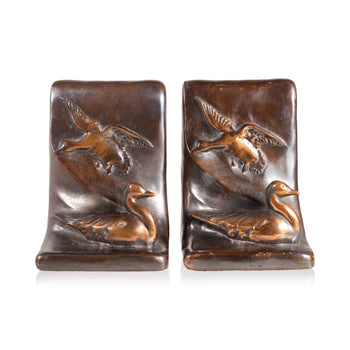Lodge Furnishings  art deco, bookends, ducks, new item  Art Deco Duck Bookends