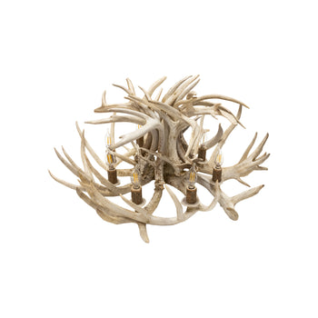 Lodge Furnishings  antler lighting, chandeliers, lighting, lodge furnishings: lighting: ceiling light, mule deer  Snowball Chandelier
