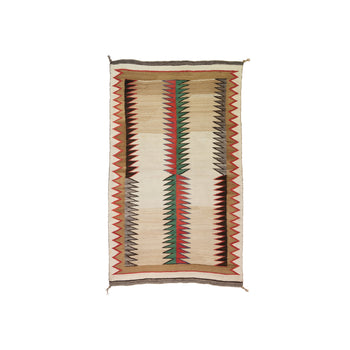 American Indian  american indian: weaving: navajo, double saddle blankets, navajo, red mesa  Navajo Double Saddle Blanket