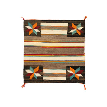 American Indian  1' to 4', american indian: weaving: navajo, crystals, navajo, saddle blankets, single saddles, weavings  Navajo Crystal Single Saddle Blanket