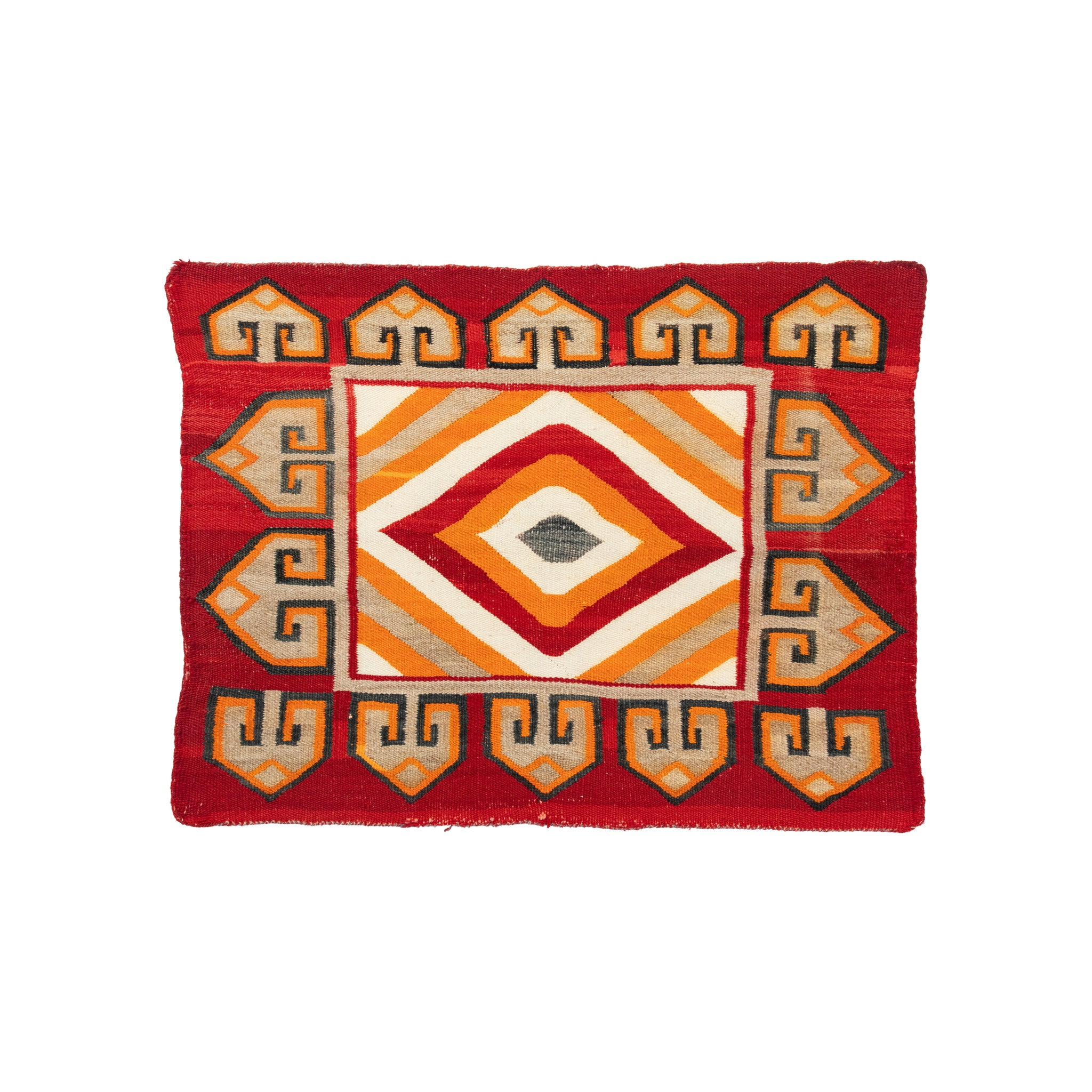 Navajo Single Saddle Blanket 1' to 4', american indian: weaving: navajo, blankets, navajo, single saddles