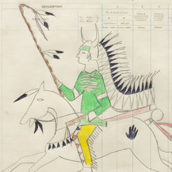 """Grizzly Bear Chief"" Ledger Drawing"