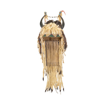 American Indian  head pieces, headdresses, ostuw, sioux, split horn bonnets  Sioux Split Horn Headdress