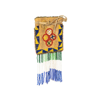 American Indian  american indian: beadwork: other bags, apache, bags, beadwork, belt pouches, ostuw  Apache Belt Pouch