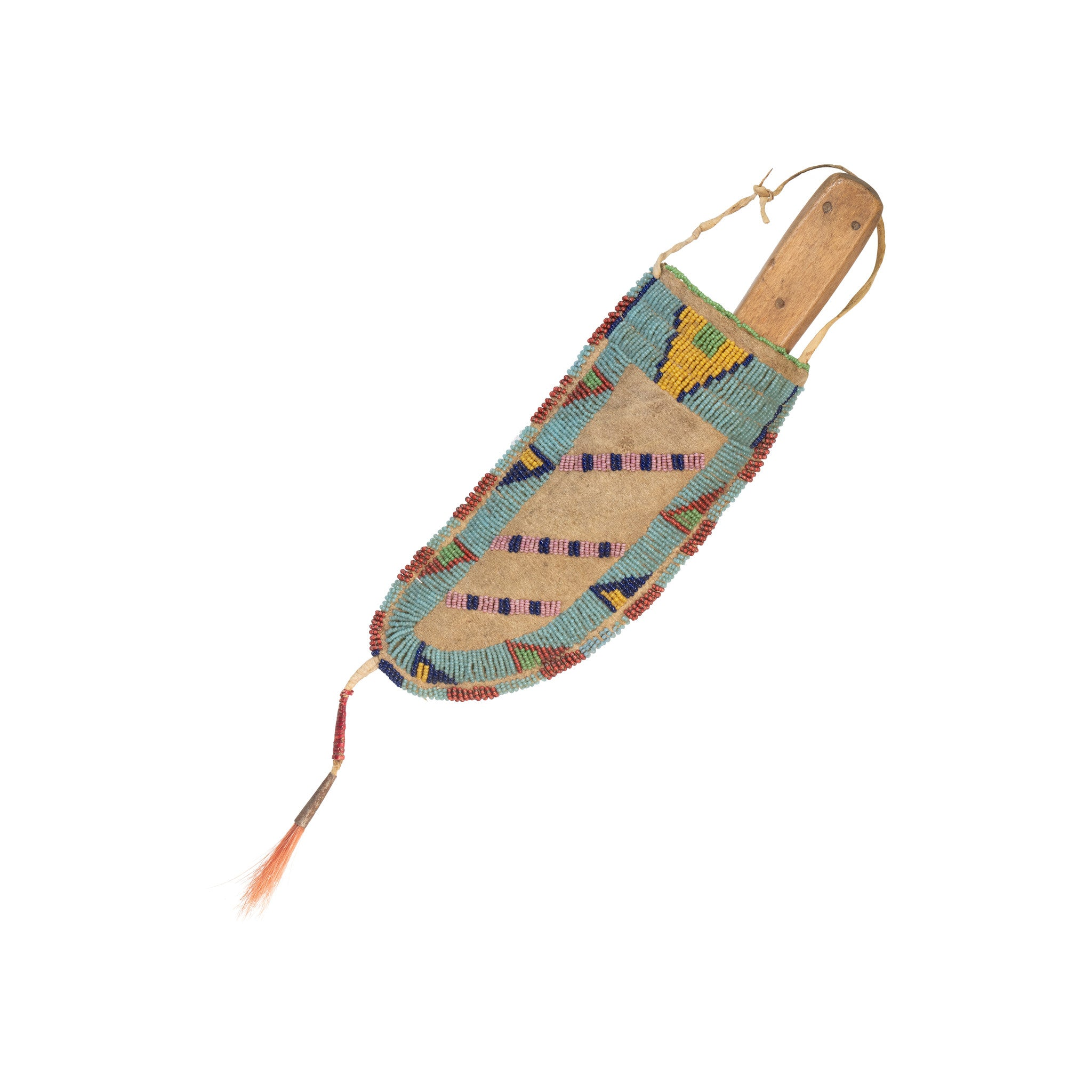 Sioux Knife Sheath american indian: weapon: knife, beadwork, green river, knife sheaths, native american - weapons, ostuw, sioux, skinning knives