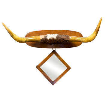 Lodge Furnishings  horn furniture, mirrors  19th Century Longhorn Hat Rack