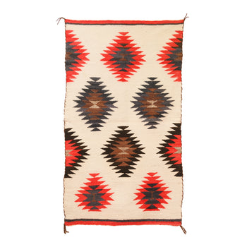 American Indian  4' to 6', child's, double saddles, ganados, navajo, weavings  Navajo Ganado Double Saddle Blanket